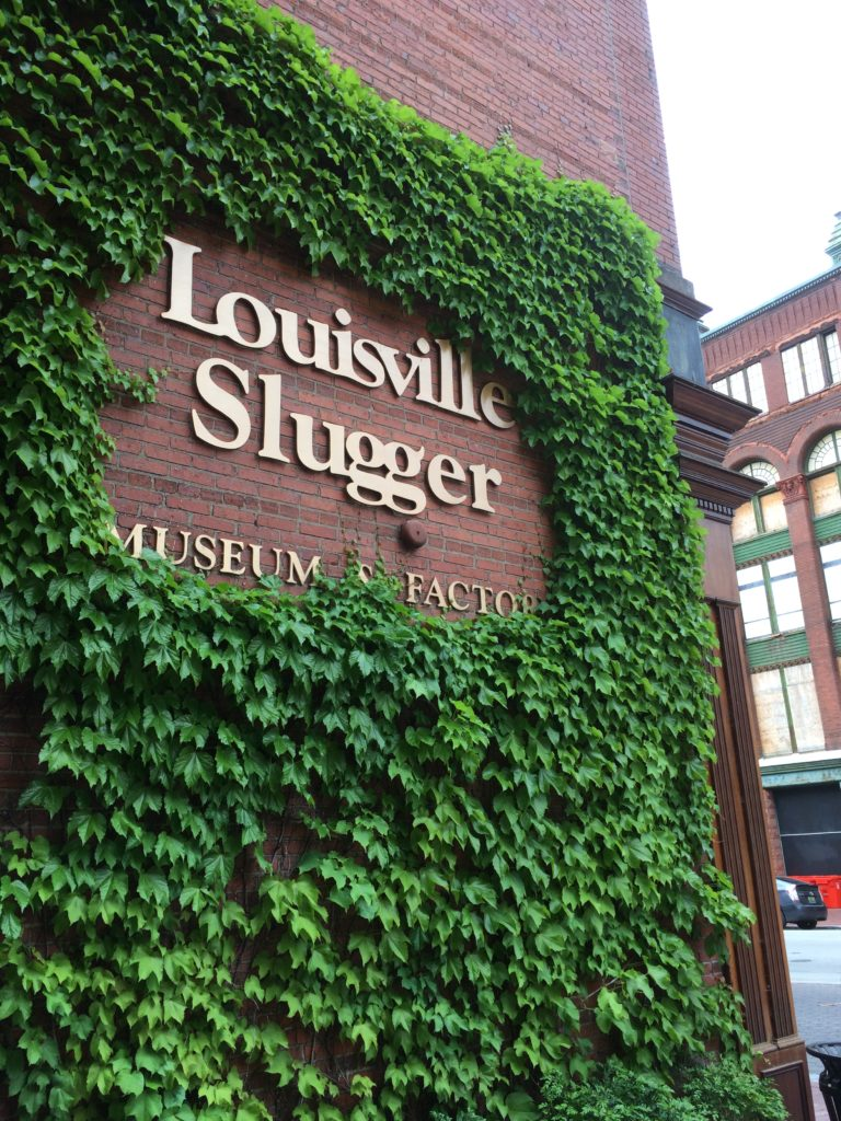 Front of the Louisville Slugger Museum and Factory at Louisville Kentucky