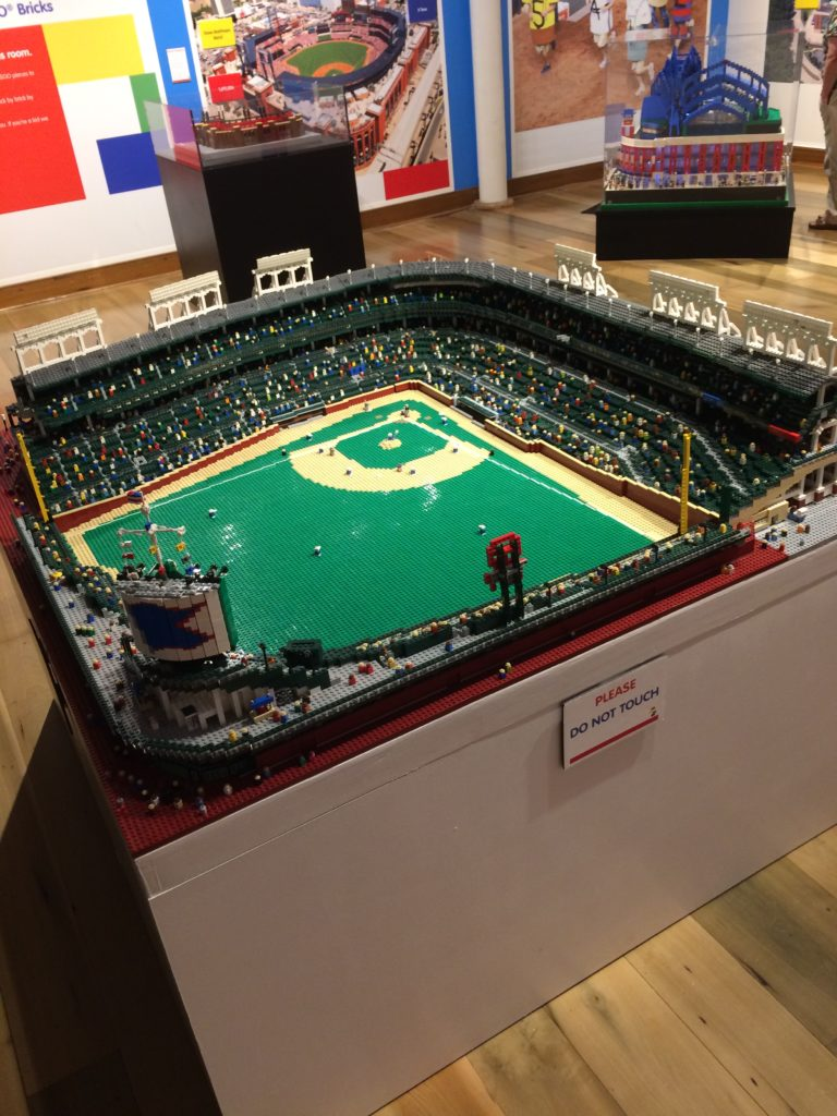 Lego model inside the Louisville Slugger Museum and Factory at Louisville Kentucky