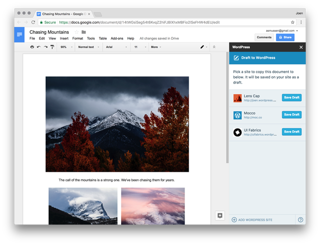 image - Publishing an article from Google Docs Using Jetpack