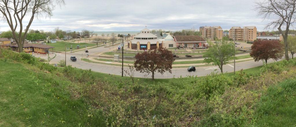 Panoramic view of the Silver Beach Carousel at St. Joseph Michigan