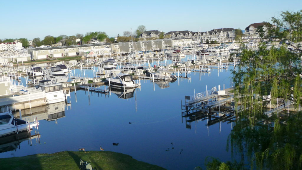 View of marina at Grand Harbor Hotel New Buffalo Michigan