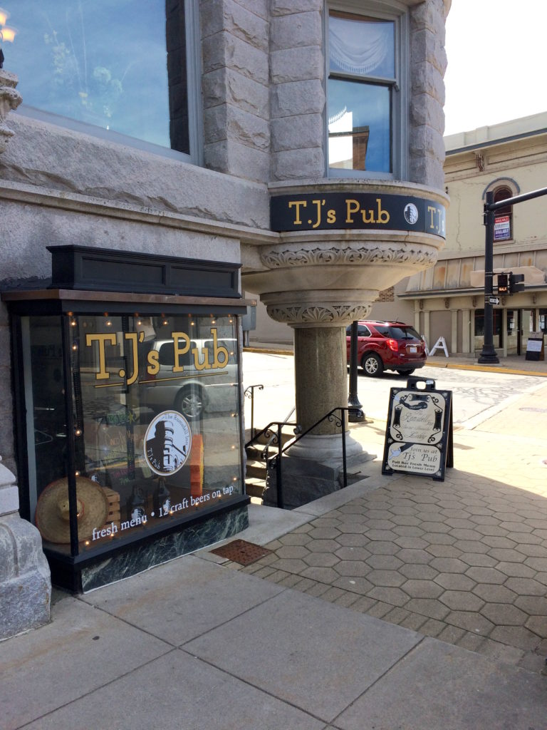 Front of TJ's Pub at Manistee, Michigan