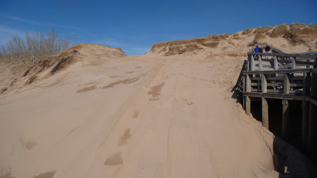 Example of dunes at Sleeping Bear Dunes National Lakeshore Michigan