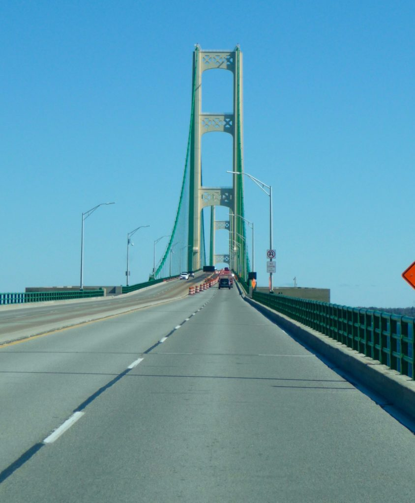 Going over the Mackinac Bridge-1