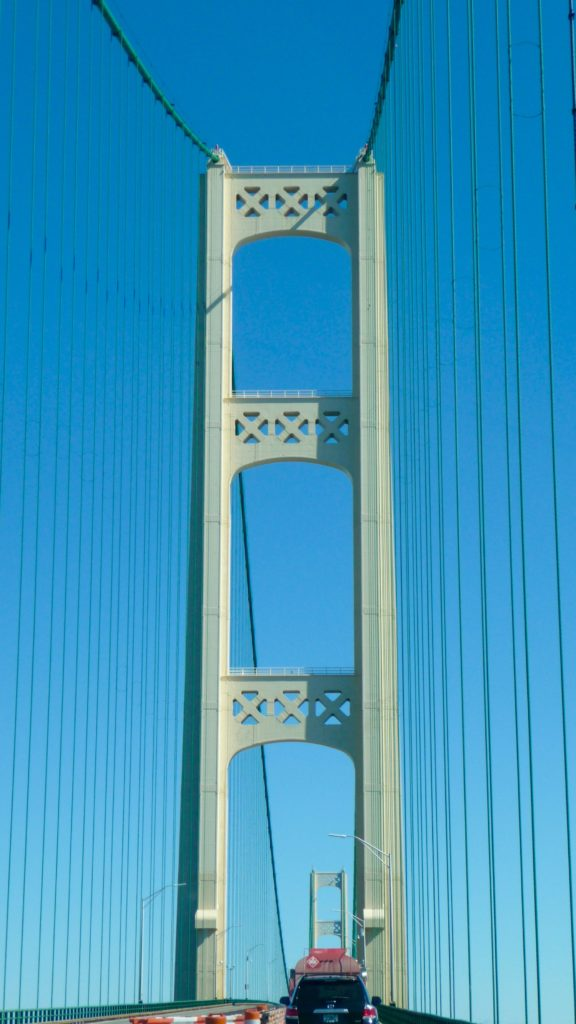 Going over the Mackinac Bridge-2