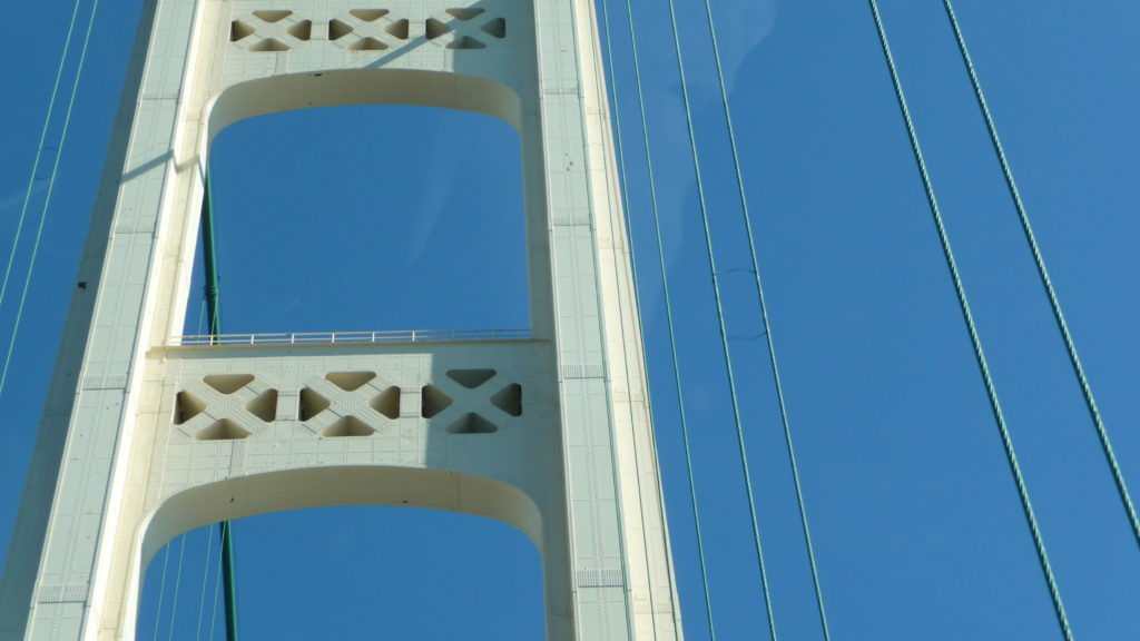 Going over the Mackinac Bridge-3