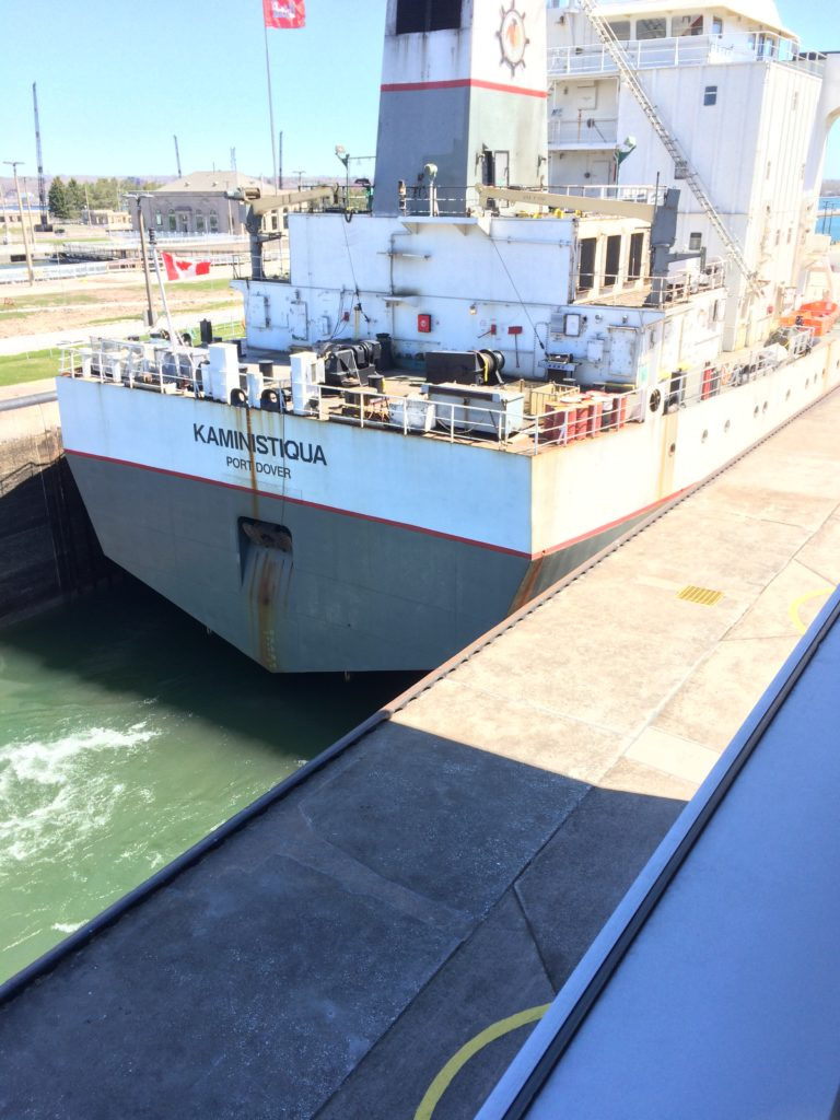 Boat going through the Soo Locks-5