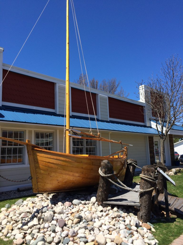 A replica of the Mackinaw Boat