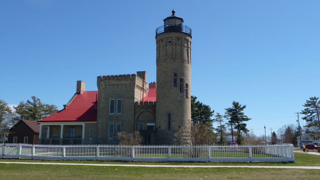 Old Mackinac Point Lighthouse at Mackinaw City