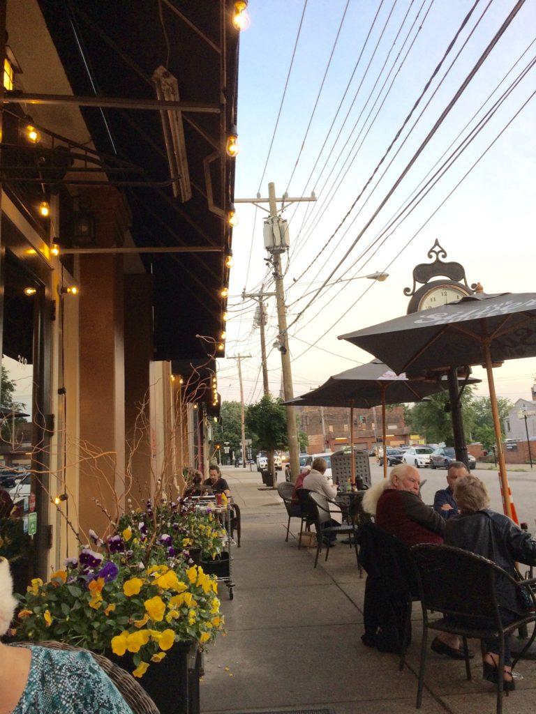 Sidewalk view of Blinkers Tavern Covington Kentucky