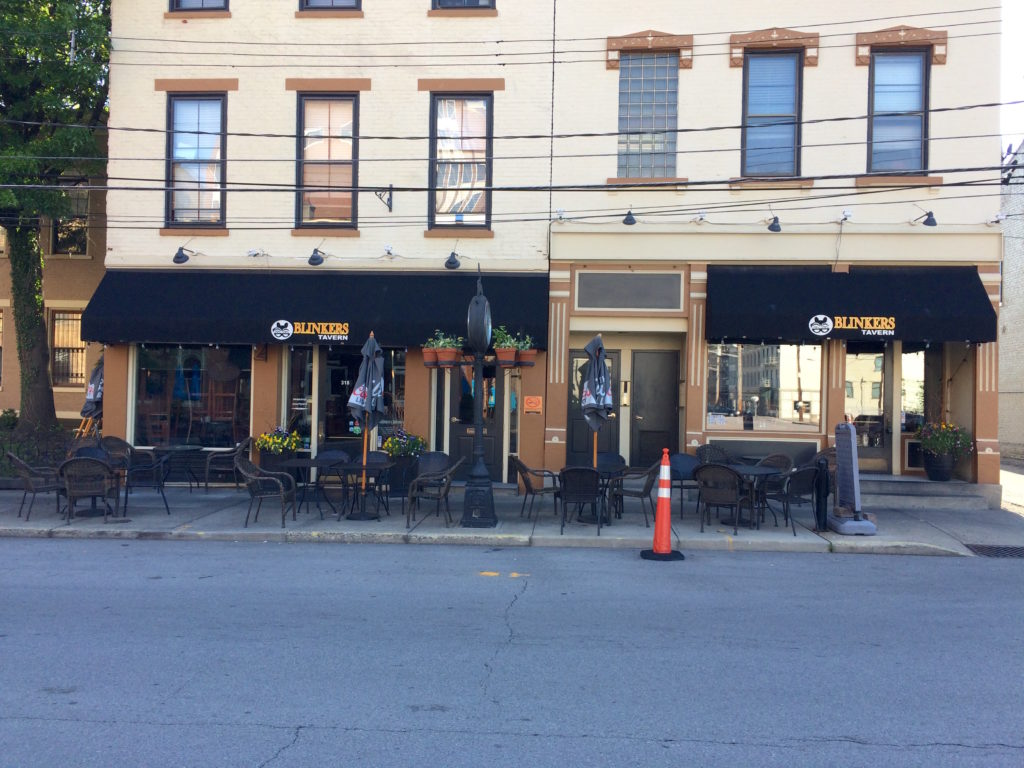 Exterior of Blinkers Tavern Covington Kentucky