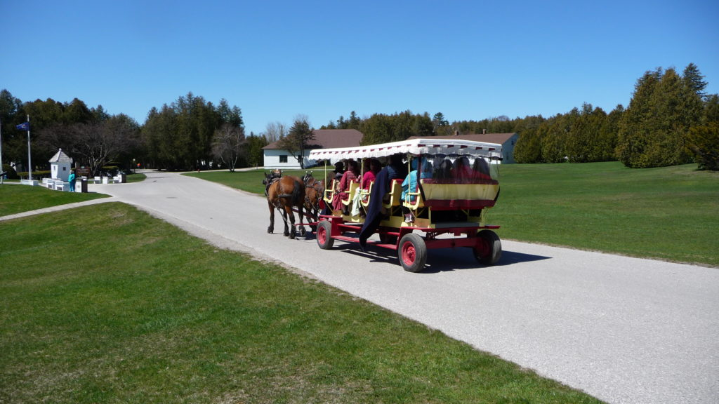 Carriage tour at Mackinac Island