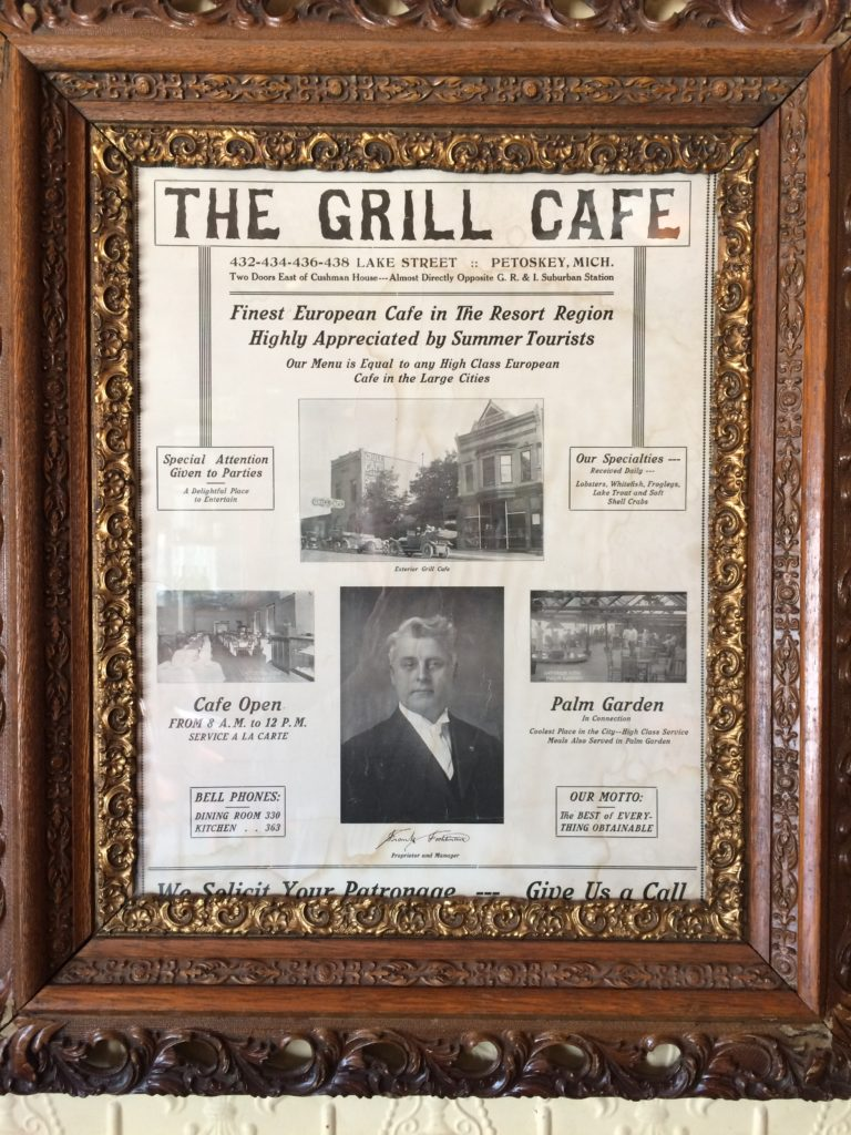 Historic poster about the Grill Cafe