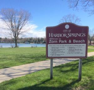 Harbor Springs MI Zorn Park sign 1 300x288 - Harbor Springs MI Zorn Park sign