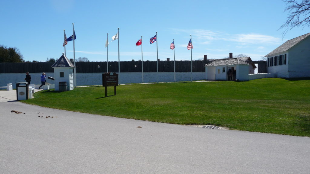 Entrance to Fort Mackinac