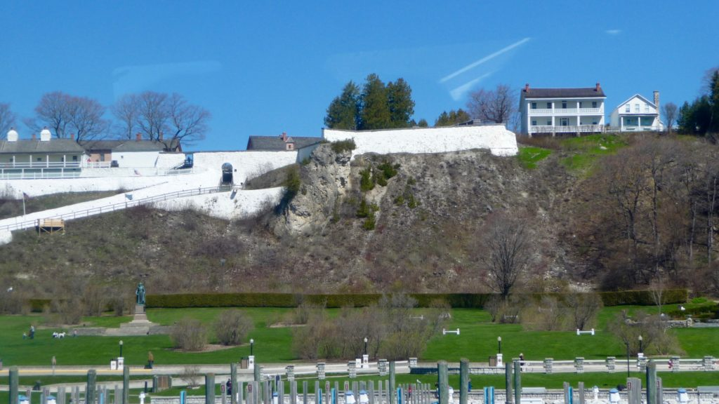 Fort Mackinac on hill