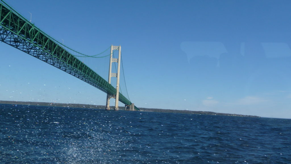 Star Line ferry headed to the Mackinac Bridge-2