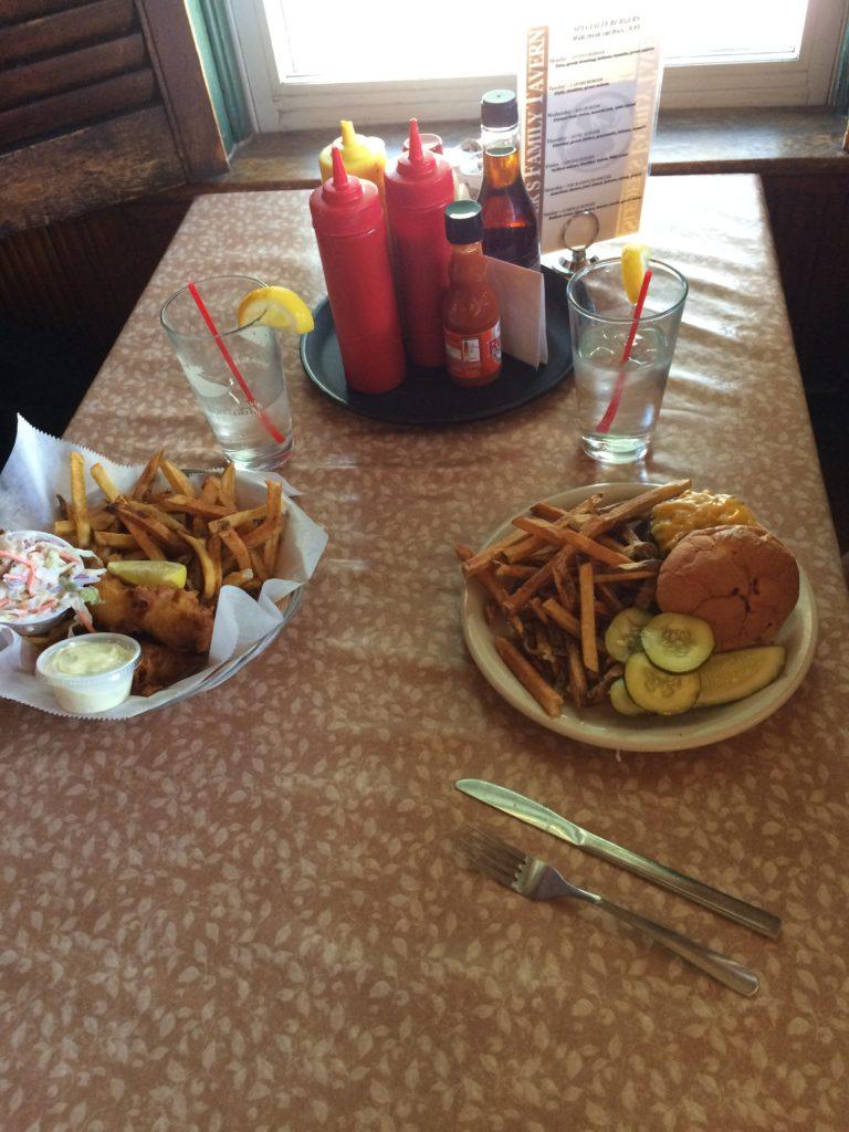 Food served at Sleder's Tavern at Traverse City Michigan
