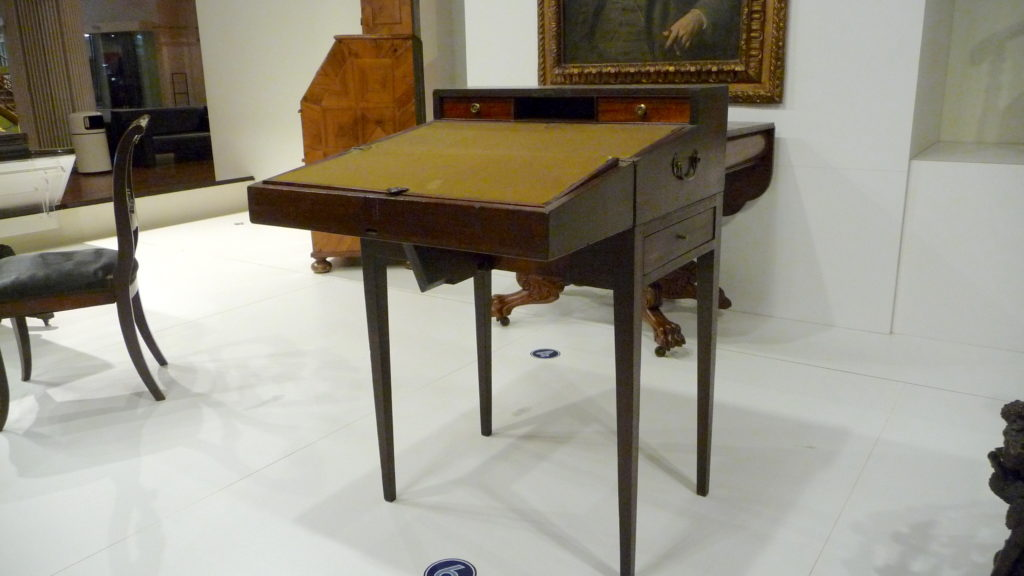 Edgar Allan Poe's portable writing desk at the Henry Ford Museum