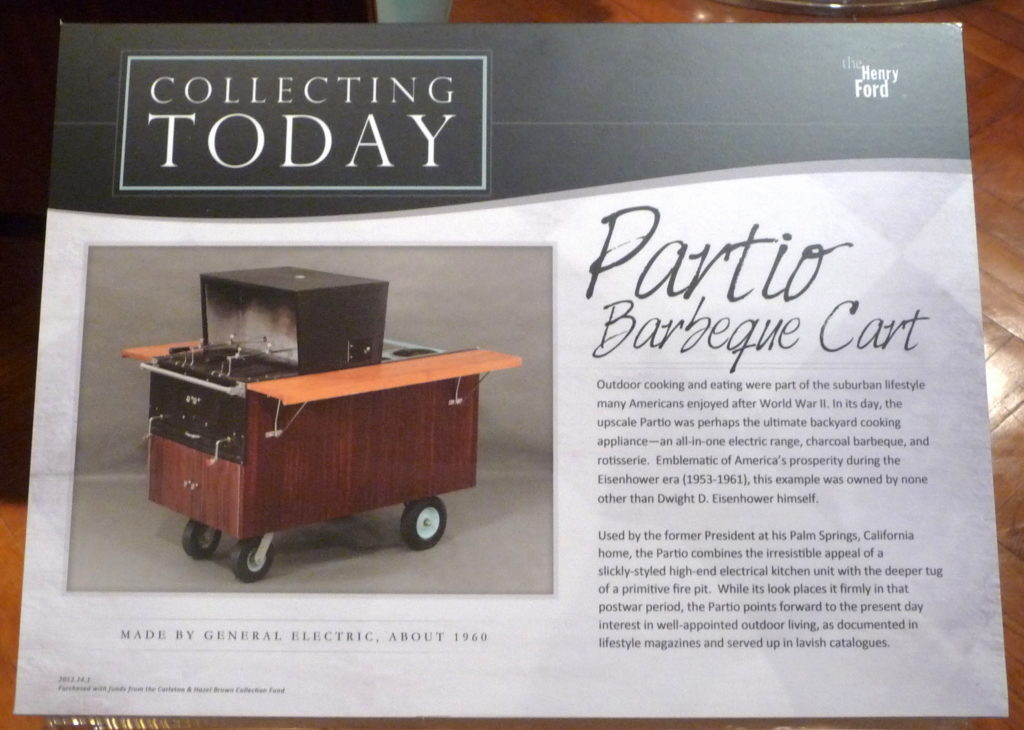 Plaque about Partio Barbeque Cart