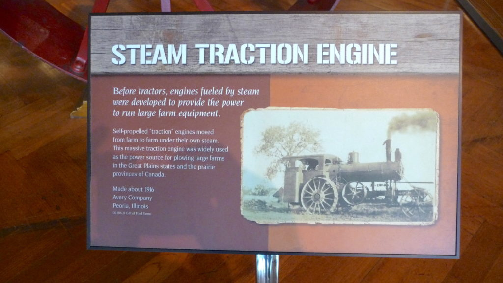 Plaque about 1916 steam powered tractor