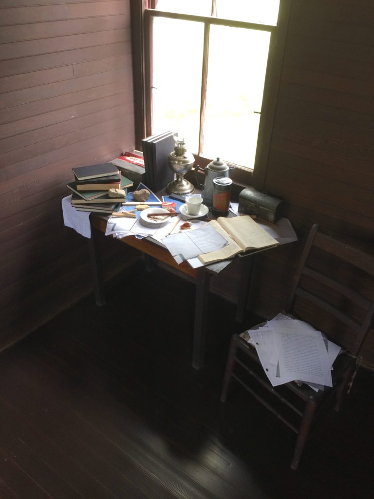 Charles Steinmetz desk in his Mohawk Valley cabin