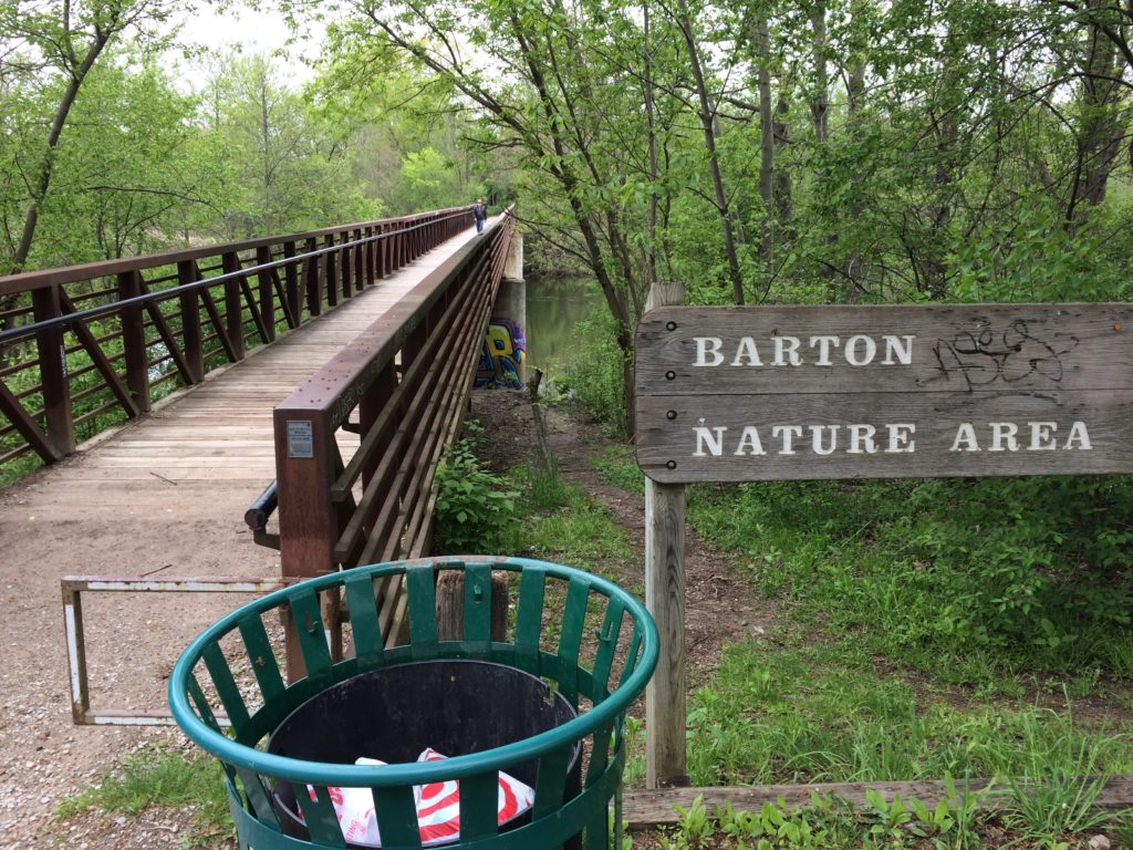 Bridge across Huron River at Barton Nature Area