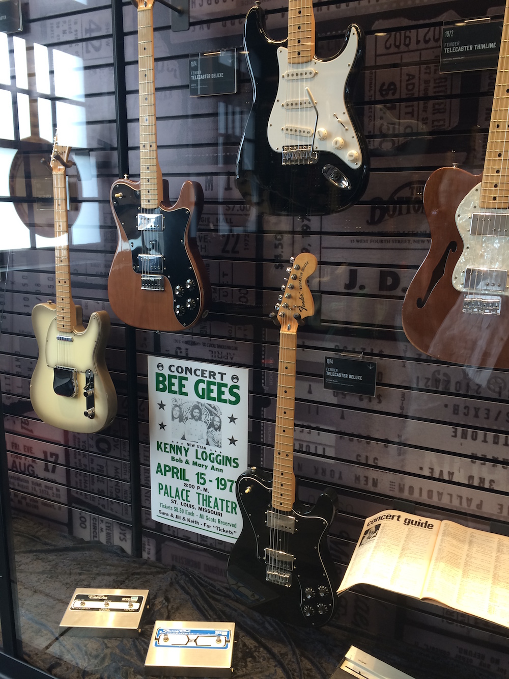 The Bee Gee's guitar and poster