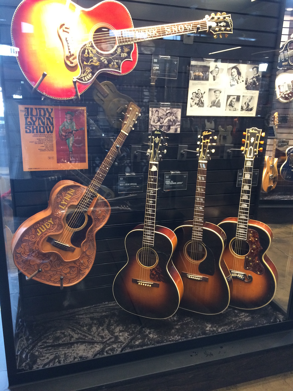Leather-covered guitar played by Judy Lynn