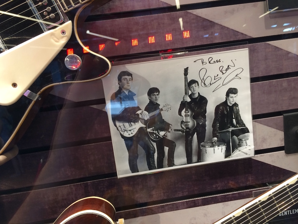 Signed photo of the young Beatles