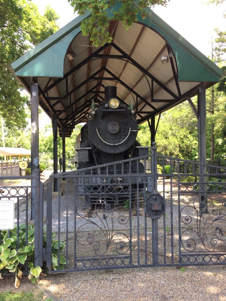 The last remaining locomotive that ran the Virginia Creeper railway