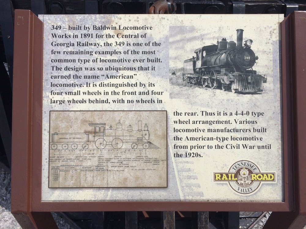 Sign in front of locomotive