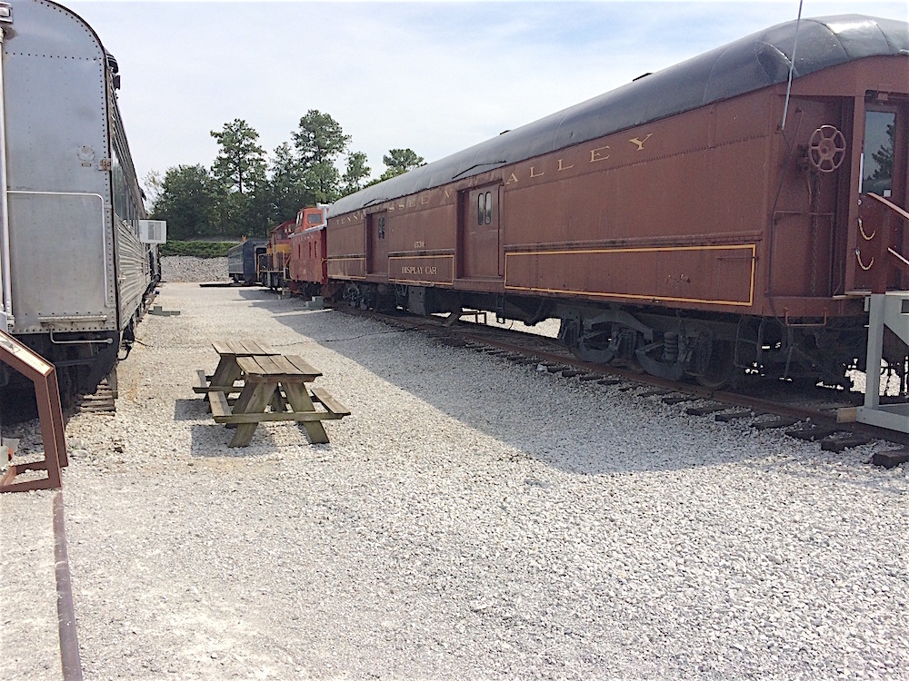 More trains in the train yard. There are also plenty of picnic tables at the Tennessee Valley Railroad Museum