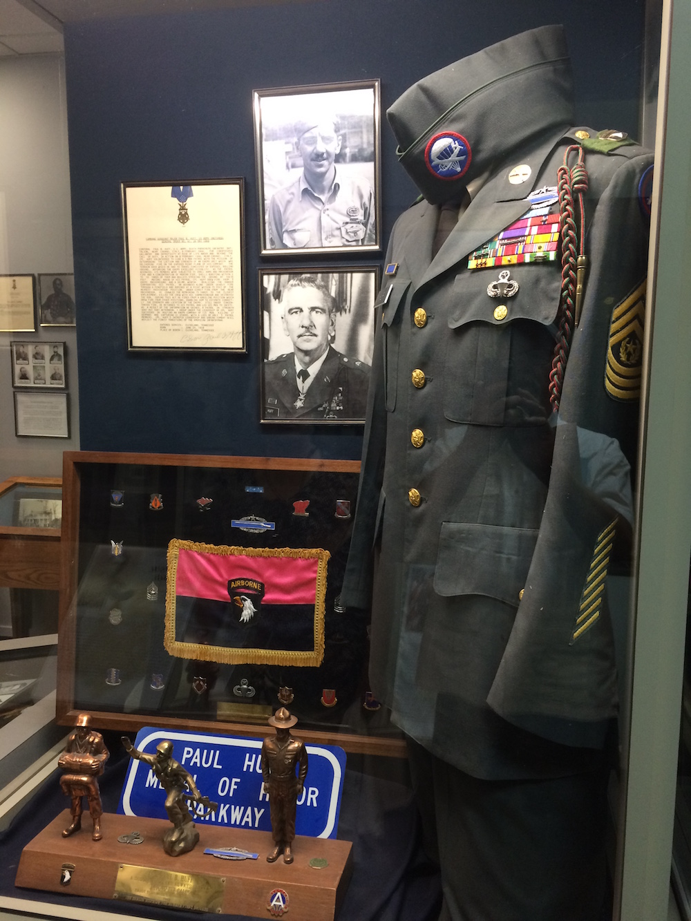 Paul Bert Huff received a Medal of Honor for his actions in WWII