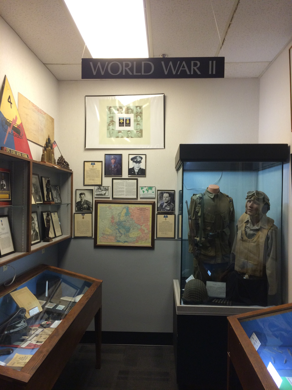 WWII exhibit at the Coolidge Medal Museum
