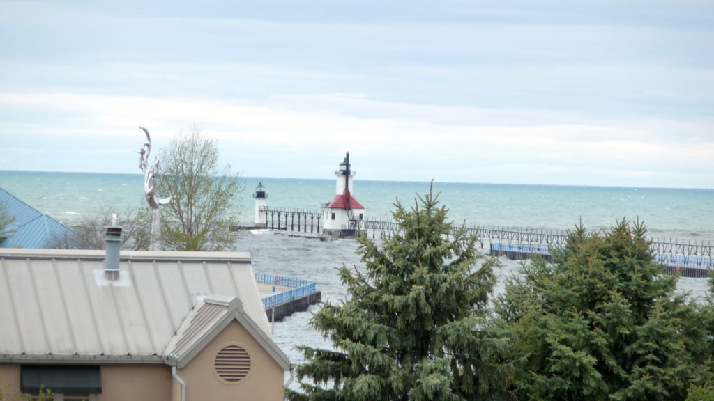 The lighthouse at St. Joseph Michigan
