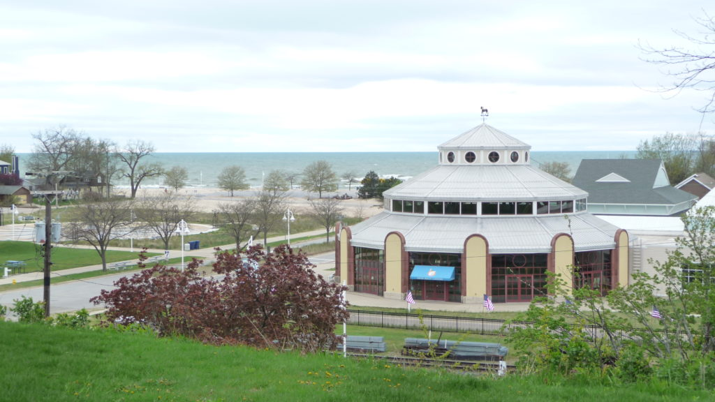 The Silver Beach Carousel building at St. Joseph Michigan