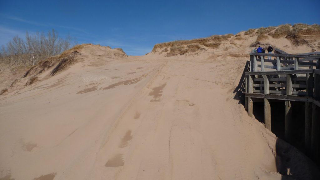 Example of dunes at Sleeping Bear Dunes National Lakeshore Michigan
