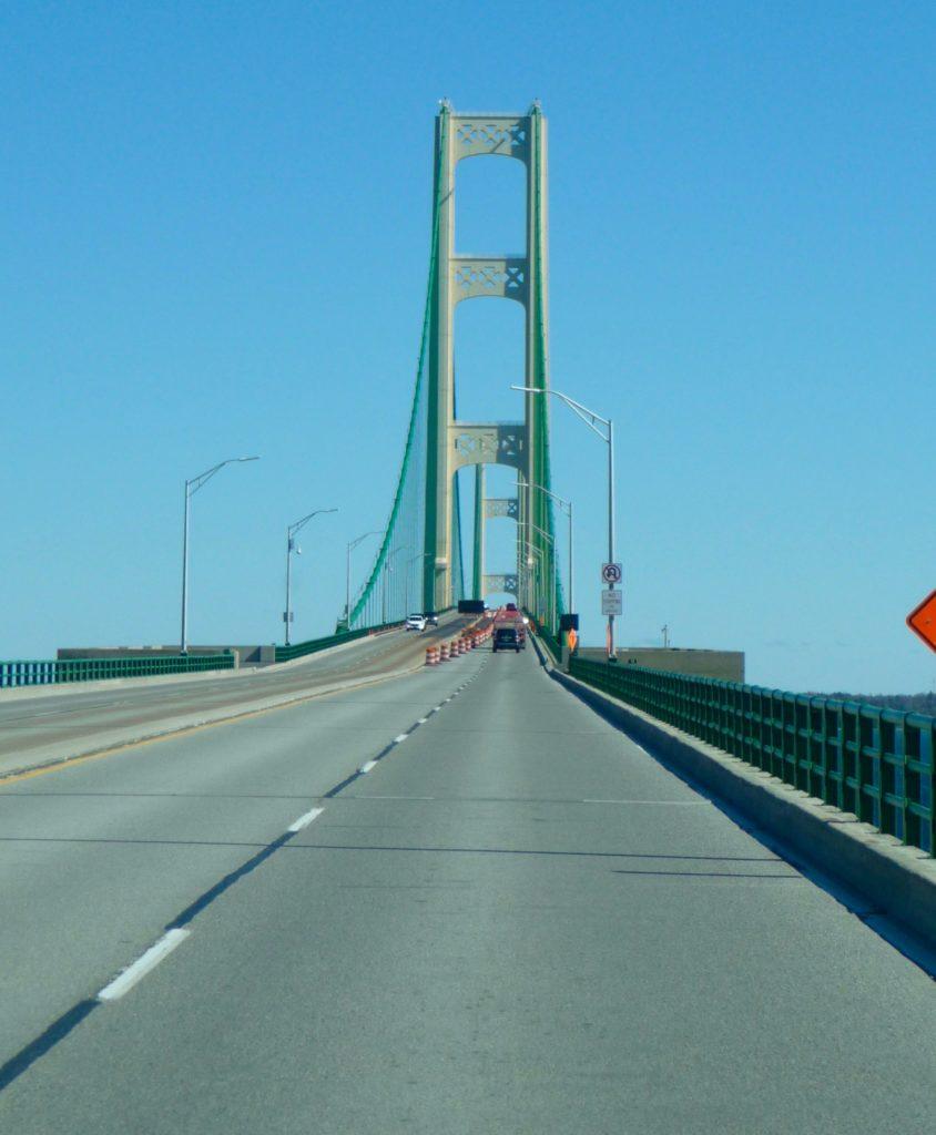 Going over the Mackinac Bridge-1
