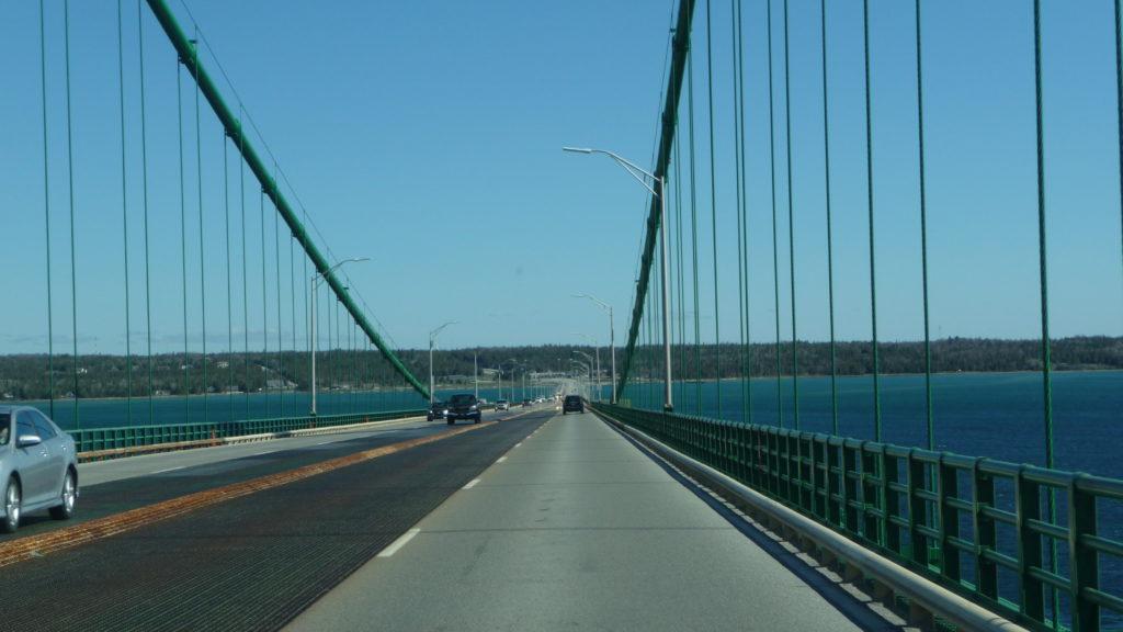 Going over the Mackinac Bridge-4