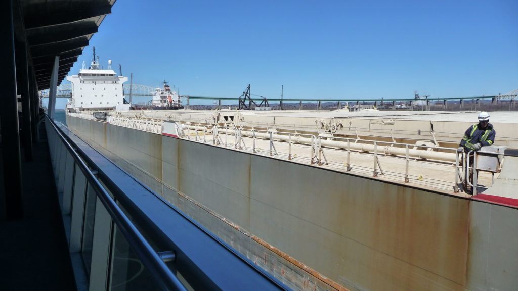 Boat going through the Soo Locks-1