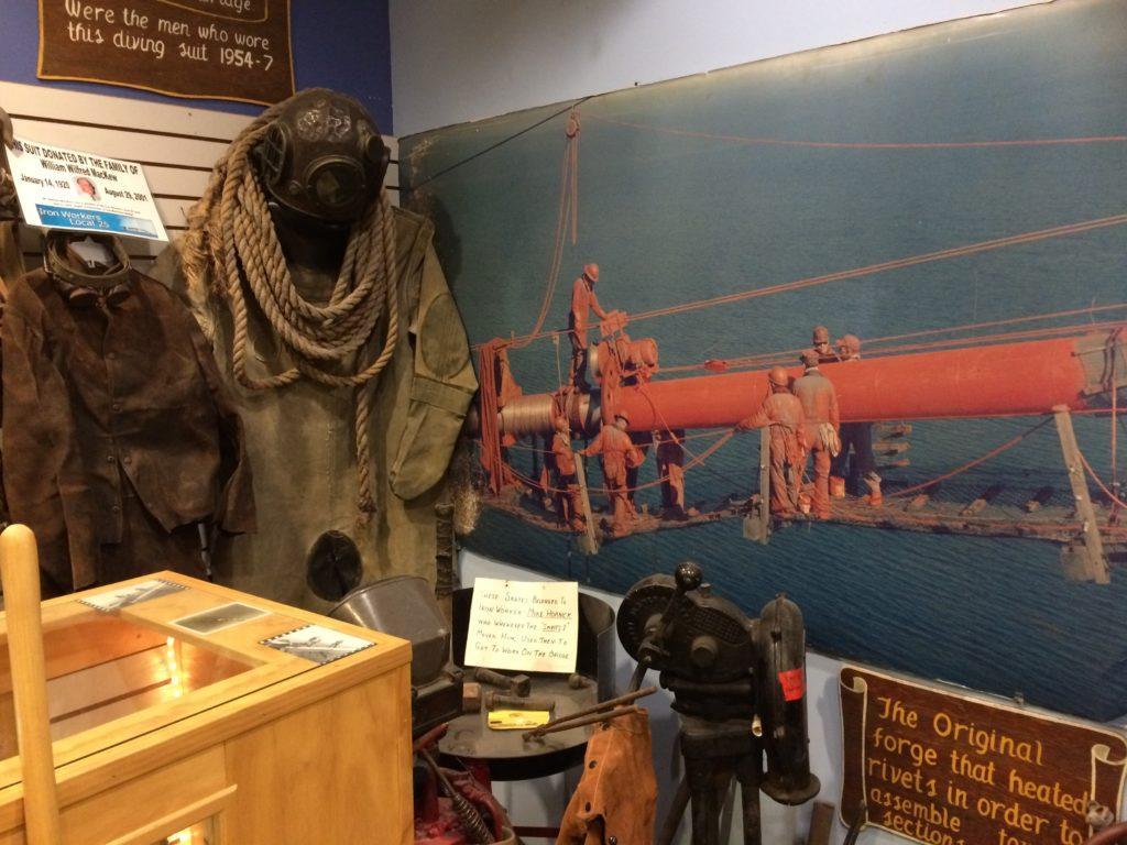 Mackinaw Bridge Museum photo of workers