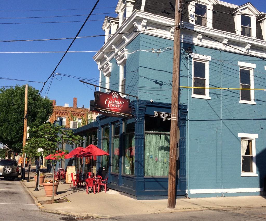 Exterior of Carabello Coffee at Newport Kentucky