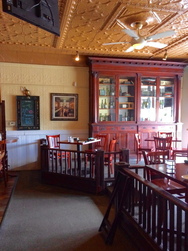 Dining area at the City Park Grill