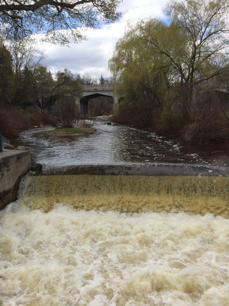Bear River Falls in the city of Petoskey Michigan