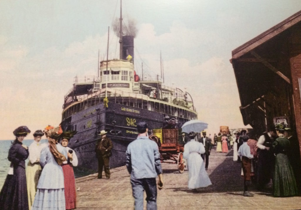 photo of pleasure cruises on the Great Lakes early 1900's