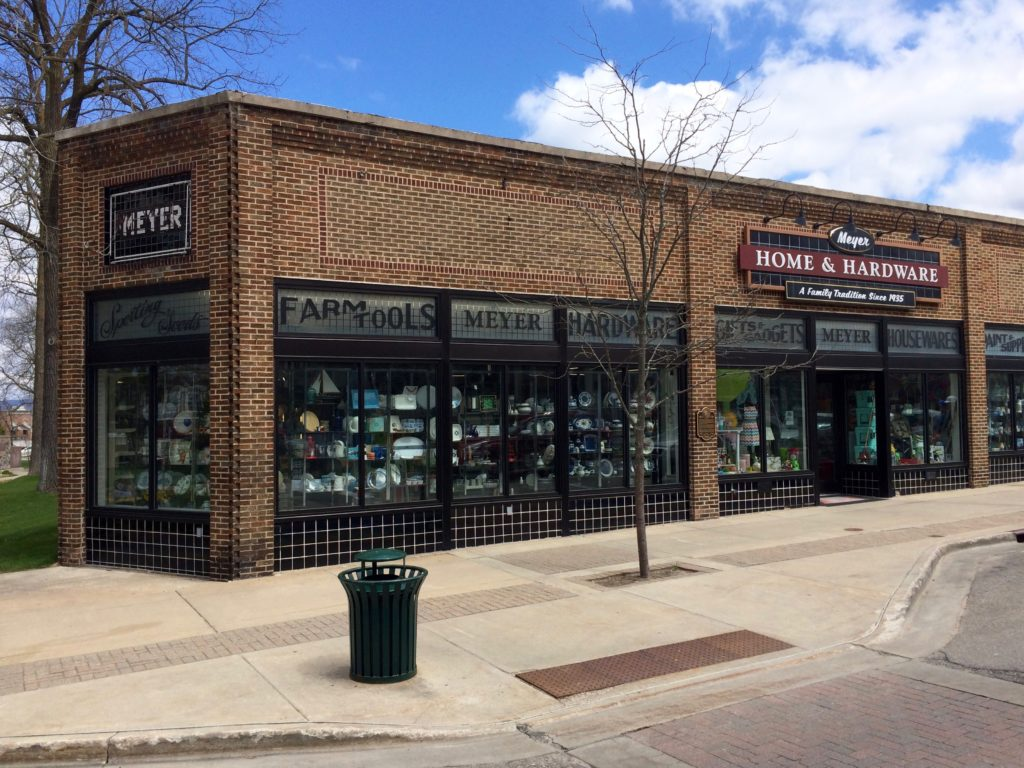 the Meyer Hardware building at Petoskey