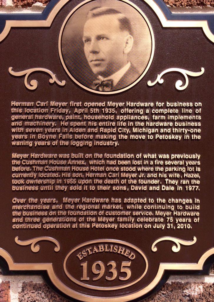Herman Carl Meyer plaque