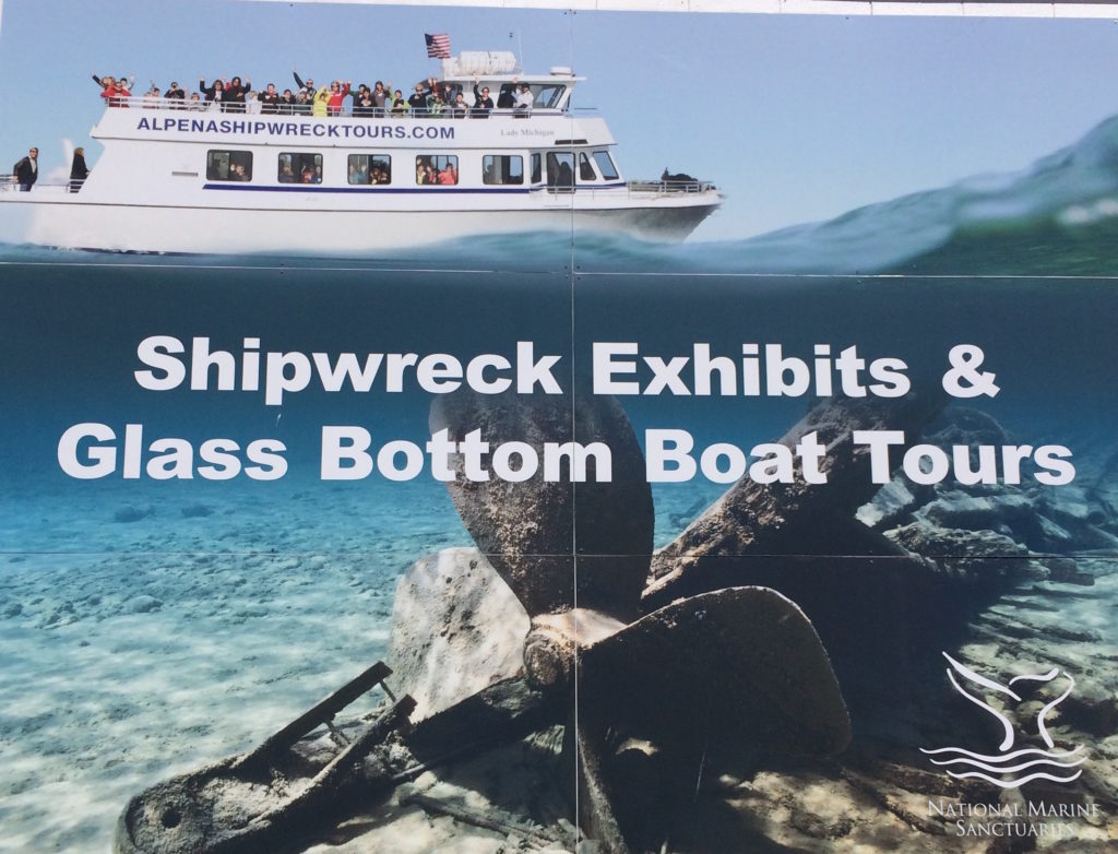 Glass Bottom Boats tours at Alpena Mischigan