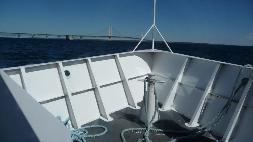 Star Line ferry headed to the Mackinac Bridge-1